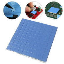 100 Pcs/Set Thermal Pad GPU CPU Heatsink Cooling Conductive Silicone Pad 10mm*10mm*1mm Size for Laptop Notebook #17(China)
