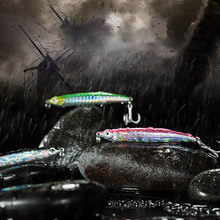 78mm/10.5g  Spanish Mackerel Lure Artificial Spanish Mackerel Fake Hard Lure Pencil Fishing Lures Jigging Bait JC