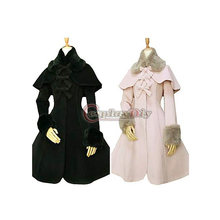 Custom Made Women's Velvet Long Sleeve Lolita Style Jacket Coat Trench Cosplay Costume