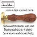 Personalizar logotipo Personalizado de imagen personalizada Invitación de la boda sello sello de lacre sello de cera Retro madera árabe lengua Extranjera