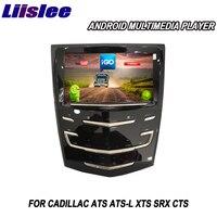 Liislee 2 din Android For Cadillac ATS ATS L XTS SRX CTS Car Multimedia Player GPS Navigation Video Radio Bluetooth