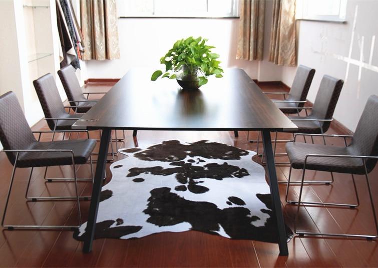 Animal faux skin cowhide rug brown black and white carpet - Faux animal skin rugs ...