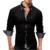 Doble Boutique de Cuello de Los Hombres Camisa de Algodón EE. UU. Talla S ~ 3XL Camisas de Manga Larga, Slim Fit Camisa Casual, 10 Colores Opcionales