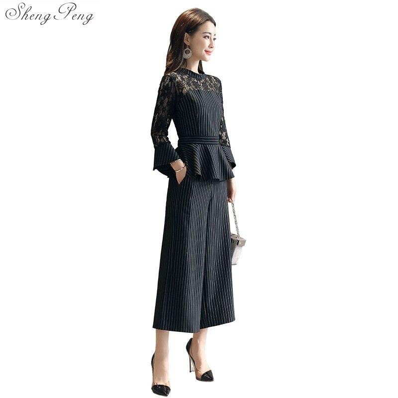 7094f37a3359 1 Pro Abbigliamento Signore Tailleur Business Pantaloni Ufficio Usura Donna  Vestiti Abiti Maniche Casual Con A Elegante ...