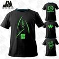 Moda ALL Star Trek Vulcan Vida Longa E Próspera Manga Curta T-Shirt Contton 100%, Star Trek planeta federais casuais camisa