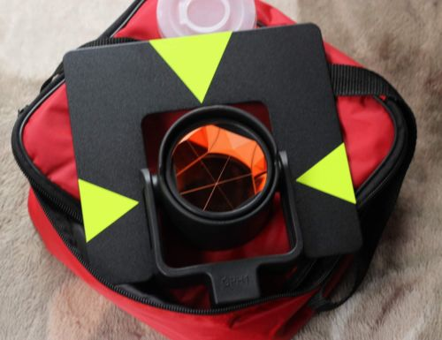 NEW type Single Prism with soft bag for total station, contant: 0mm single prism 0mm offset with yellow bag for total station free shipping
