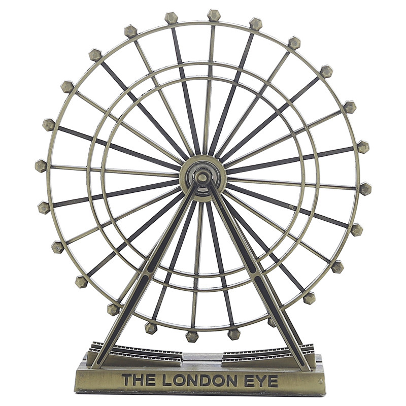 New 2019 Metal Ferris Wheel Statues Home Decor Craft Vintage Alloy Figurine For Office Bar Desktop Ornament