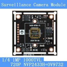 1.0MP1280*720 AHD CCTV 720P Camera Module Circuit Board , 1/4 CMOS NVP2433H + OV9732 1000TVL PCB Board PAL / NTSC Optional