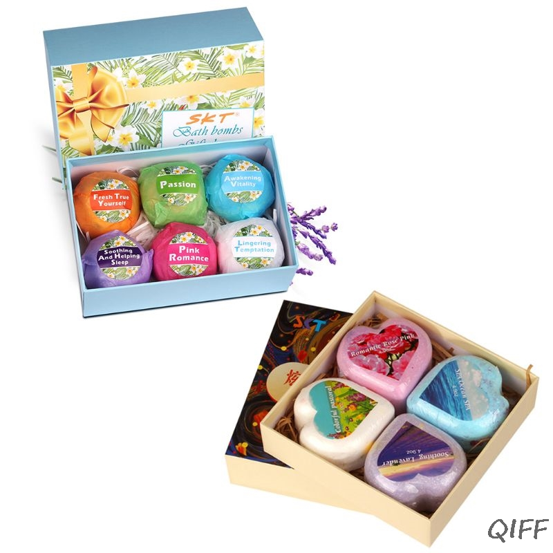 4Pcs Oil Control Bath Salt Body Essential Oil Bath Ball Natural Bubble SPA Bath Bombs Exfoliating Moisturizing Gift Set