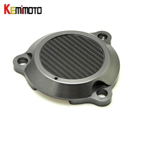 KEMiMOTO For Yamaha TMax 530 Moto CNC Aluminum Frame Hole Cover Front Drive Shaft Cover Guard