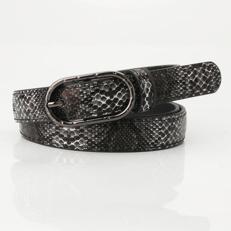 105x1.9cm High Quality Female Pu Leather Snake Waist Belt Women Hot Designer Belts For Women's Dress Cinto Feminino