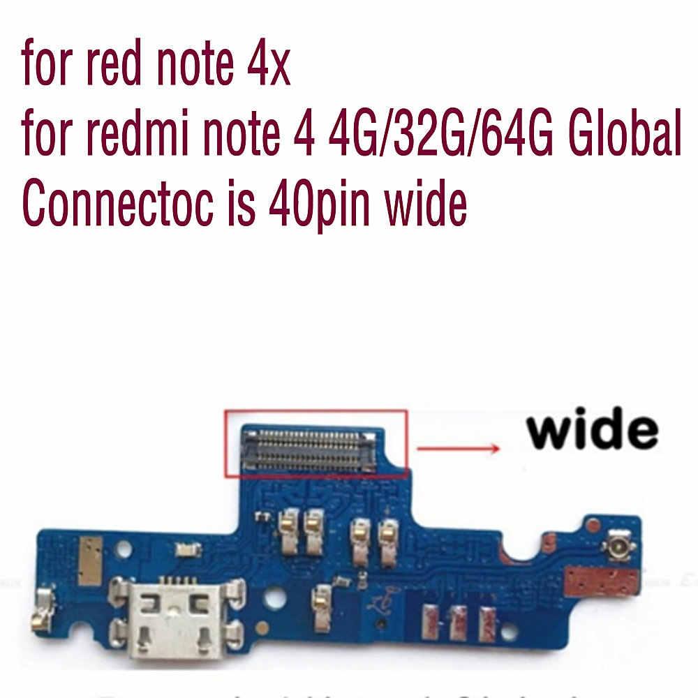 Usb 電源充電ポートドックフレックスケーブル xiaomi redmi note 4 用 × 1 redmi note 4 4 グラム/32 グラム /64 グラムグローバルワイド