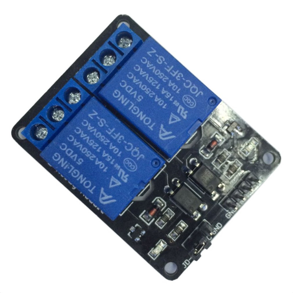 5V 2 Channel Relay Module Shield For Arduino ARM PIC AVR DSP MCU Electronic With Optocoupler Voltage Regulator