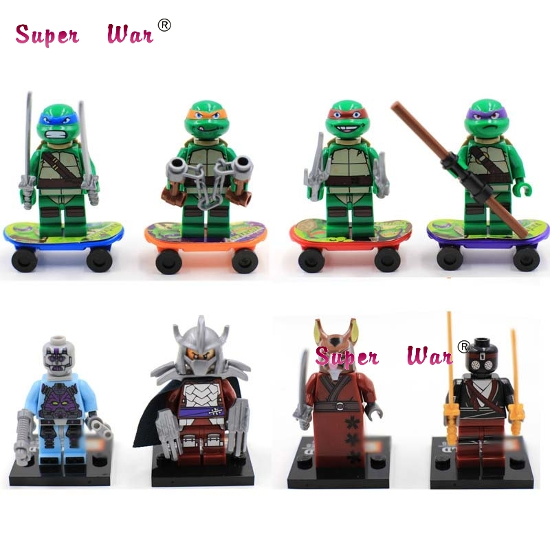 8pcs star wars super heroes building blocks SY176 Ninja Leo Raph Mikey Don Splinter Oroku  model bricks toys for children nice soft silicone back magnetic smart pu leather case for apple 2017 ipad air 1 cover new slim thin flip tpu protective case