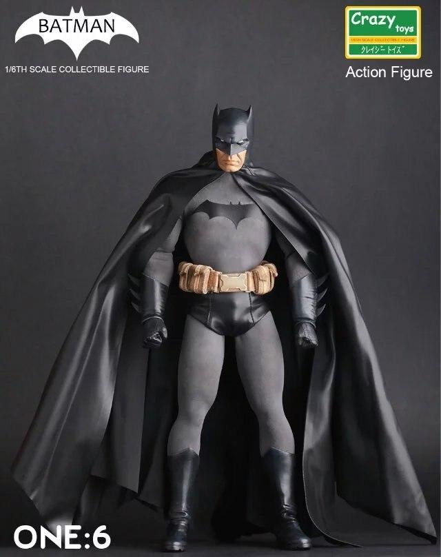 """Juguetes locos Batman PVC figura de acción coleccionable modelo de juguete 12 """"30 cm KT3520-in Figuras de juguete y acción from Juguetes y pasatiempos    1"""