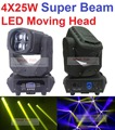 Super Beam 4x25W LED Moving Head Beam Light Bar Effect Led Stage Lighting Cree Led Lamp Super Bright Projector DJ Disco Lights