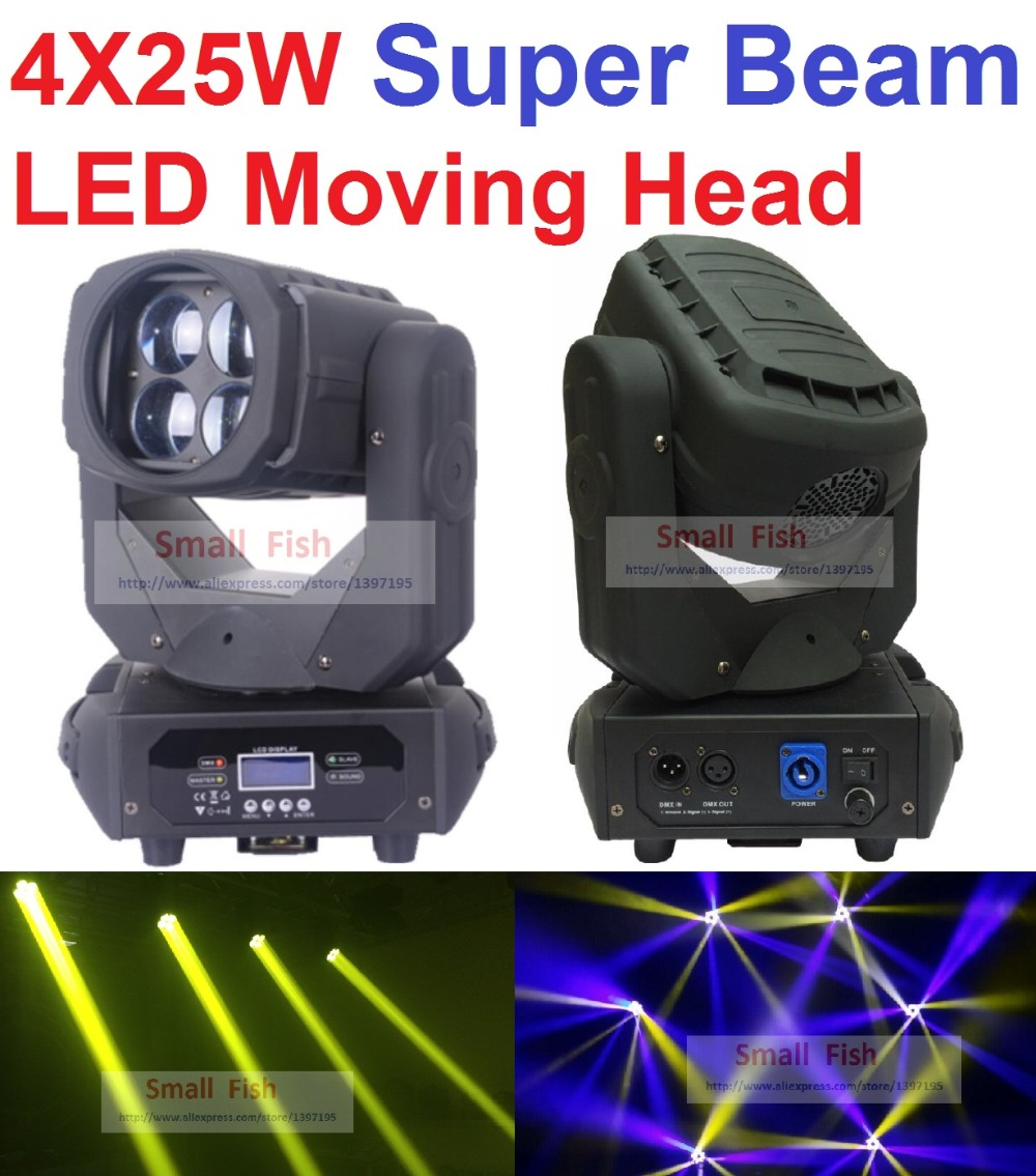 Super Beam 4x25W LED Moving Head Beam Light Bar Effect Led Stage Lighting Cree Led Lamp Super Bright Projector DJ Disco Lights