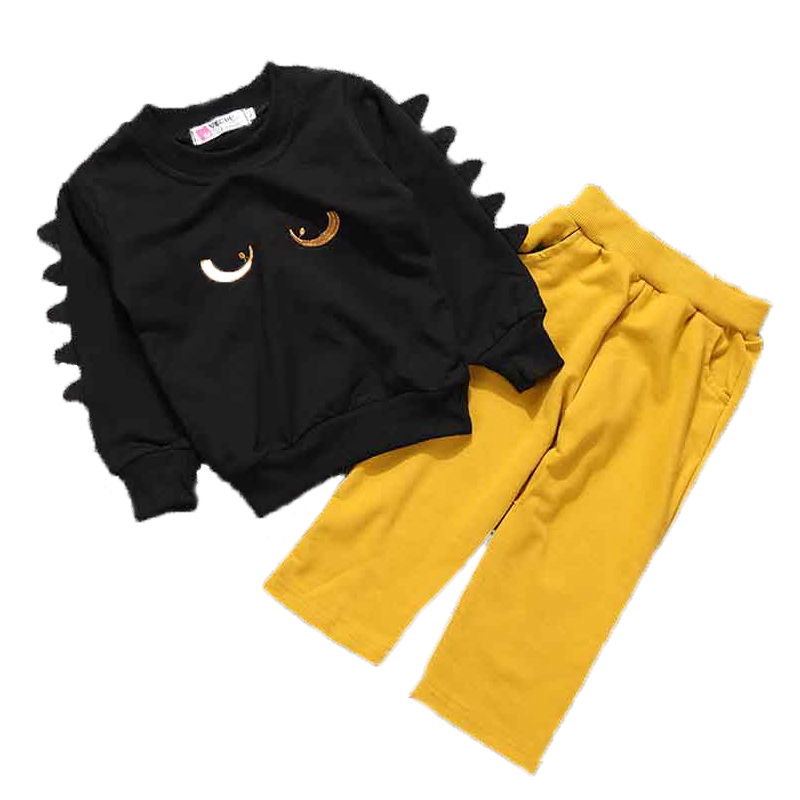 New Autumn Baby Boy Clothes Cute Long Sleeve Animal Boy T-shirt  Pants Clothing Set 2pcs Toddler Children Clothes Boy Outfit 9 12m baby boy set monkey print clothes for children newborn baby boy clothing corduroy 2017 autumn clothes 2pcs boy outwears