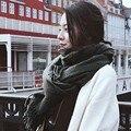 Venda quente Lenço de Algodão para As Mulheres bufandas mujer 2017 Cinza morno mulheres cachecol inverno cachecóis echarpes xales Cachecol Cobertor 19