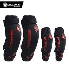 SCOYCO K18H18 мотоциклетные защитные наколенники колено локоть протектор оборудования joelheiras де Мотокросс CE одобрение охранники гонки