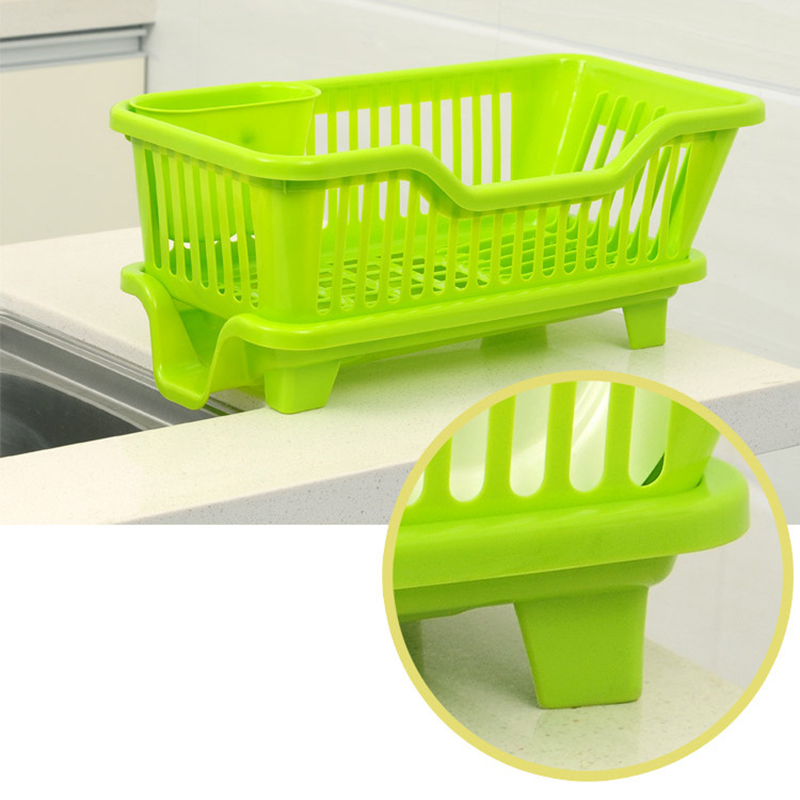 Kitchen Plastic Draining Tray Dish Drainer Drying Rack Tray Sink ...