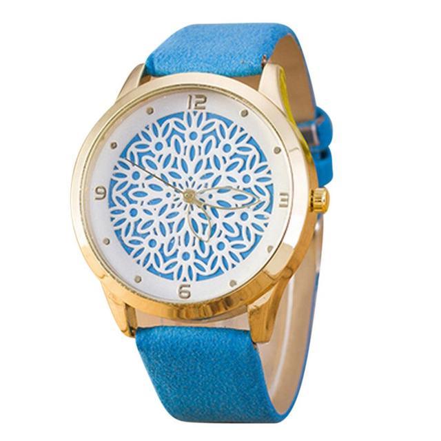 Relojes mujer watches women Simple Fashion Women Leather Unique design Quartz Wrist Watch Gift for Lovers montre femme #D