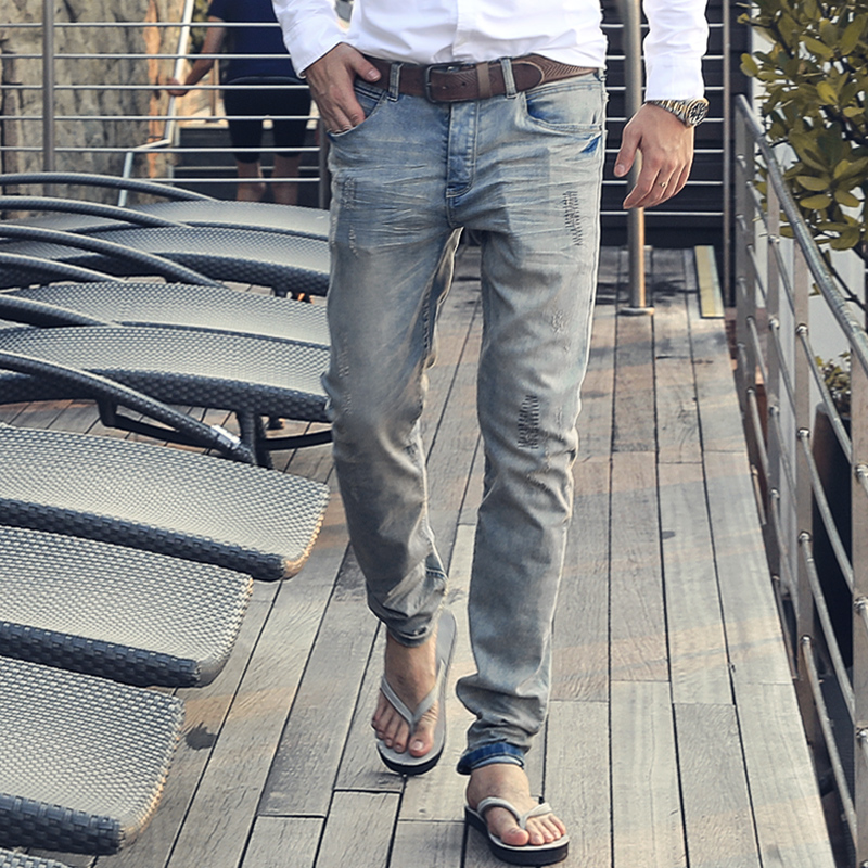 MIX MAN 2019 New   Jeans   Men Classical   Jean   High Quality Straight Leg Male Casual Pants Plus Size Cotton Denim Trousers