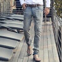 MIX MAN 2019 New Jeans Men Classical Jean High Quality Straight Leg Male Casual Pants Plus Size Cotton Denim Trousers