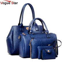 Vogue star 2017 neue 5 stücke frauen handtaschen set berühmte marke designer PU frauen tasche set gute qualität schultertasche frauen taschen LS360