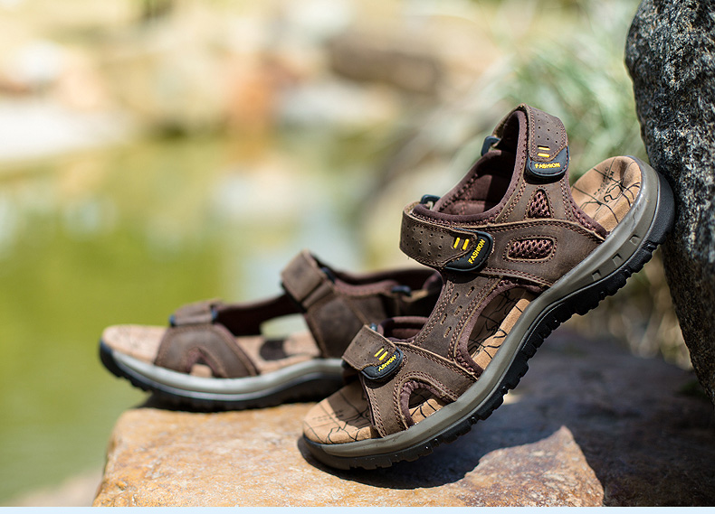 Hot Sale New Fashion Summer Leisure Beach Men Shoes High Quality Leather Sandals The Big Yards Men\`s Sandals Size 38-45 (27)