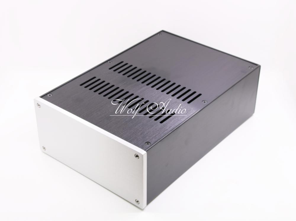 JC2212 Full Aluminum Chassis Pre-amp Enclosure Tube amp Cabinet DAC BOX PSU Case wa19 aluminum chassis pre amplifier chassis enclosure box 313 425 90mm