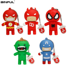 Spiderman/Superhero Superman Usb Flash Drive 8GB 16GB 32GB Classic Cartoon Pen 64GB 128GB Best Gift Pendrive Memoria