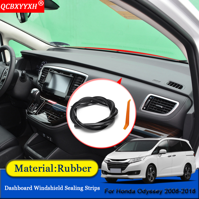 Car-styling Anti-Noise Soundproof Dustproof Car Dashboard Windshield Sealing Strips Auto Accessories For Honda Odyssey 2008-2018