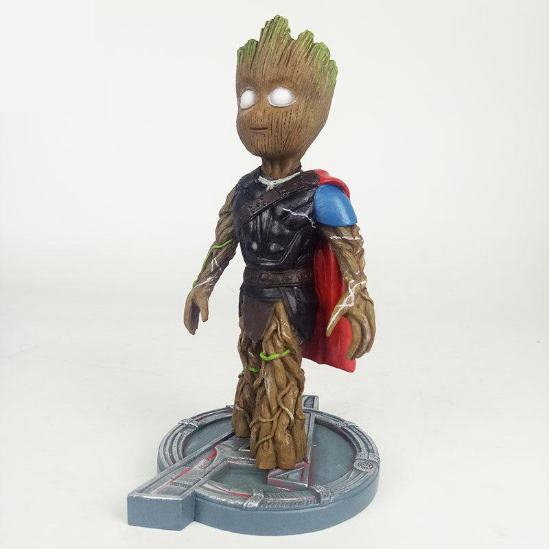 Marvel Avengers 3 Groot Turned to Thor Action Figure Toy Super Hero PVC Collectible Model Doll For Children Kids Birthday Gifts astro boy figure toy anime cartoon astroboy pvc action figure collectible model toy doll children gifts 8 types