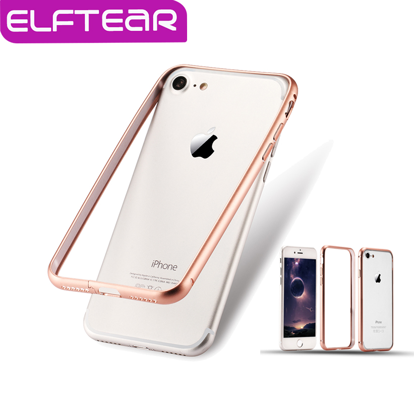 buy online ecf8c 81743 ELFTEAR Anti Knock Aluminium Metal Bumper Frame Case Cover for iPhone 6 6S  For iPhone 7 7 Plus Ultra Thin Slim Phone Case -in Phone Bumper from ...