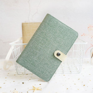 Image 2 - Yiwi A5 A6 Color Cloth Material Cover Notebook Snap Planner  Journal  Organizer Binder Stationery