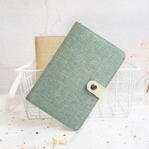 Image 2 - Yiwi A5 A6 Kleur Doek Materiaal Cover Notebook Snap Planner Journal Organisator Bindmiddel Briefpapier