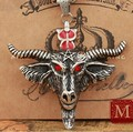 Hot Fashion Bison Ox Buffalo Bull Head Skull Necklace