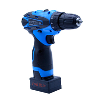 25V Two Speed Cordless Drill Electric Drill Electric Screwdriver Power Tool 2pcs Rechargeable Lithium Battery