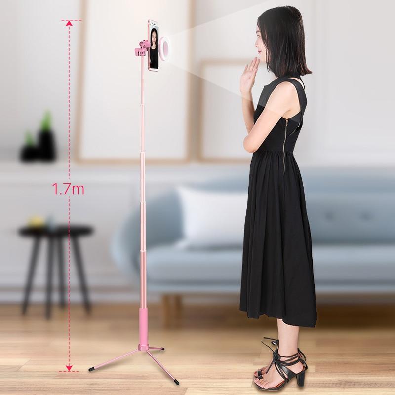 170 Cm Selfie Stick Licht Fotografie Beleuchtung 360 Drehen Ring Licht Led Studio Bluetooth Stativ Für Youtube Vlogging Smartphone Einen Einzigartigen Nationalen Stil Haben