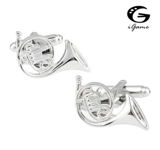 iGame Sousaphone Cuff Links Quality Brass Material Silver Color Musical Instruments Design Free Shipping perfection in style glass square ashtray vintage musical instruments design 001
