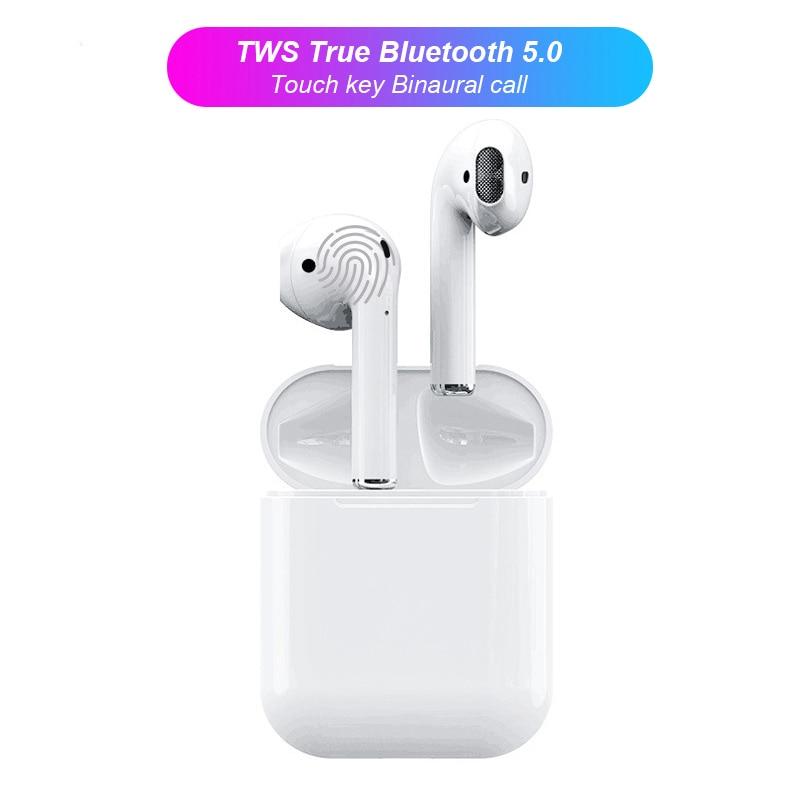 i12 TWS Mini Bluetooth Earphone Sports Sweatproof Earpiece Wireless Earbuds Ear pod Binaural call Earphones Handset