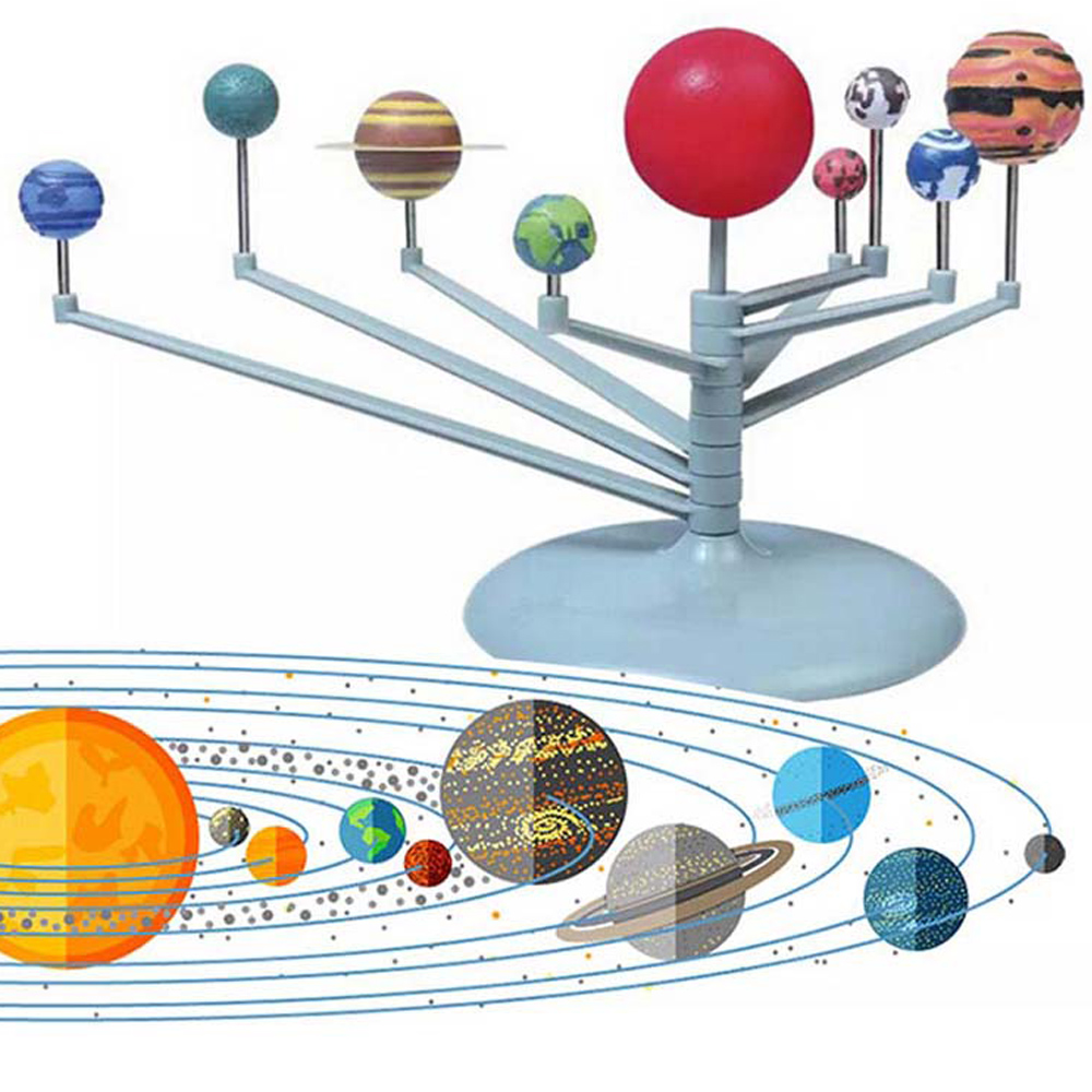 Kids Toys DIY Model Kit Solar System Nine Planets Planetarium Astronomy Science Project Kids Gift Early Education Toys For Child
