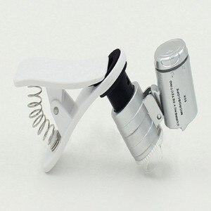 Увеличительные очки 1 шт. Универсальный 3 светодиода Клип Мобильный телефон микроскоп Лупа микро объектив 60X оптический зум телескоп объектив камеры