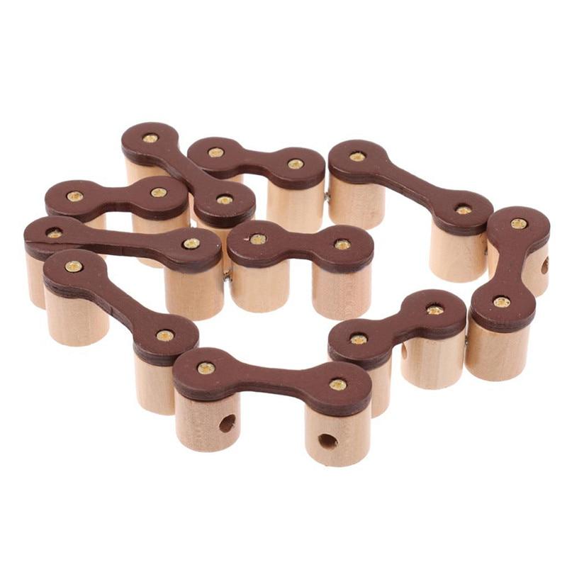 Leuk 3d Kettingslot Puzzel Klassieke Houten Intelligentie Speelgoed Brain Teaser Spel Braam Puzzel Voor Kinderen Volwassen Gift