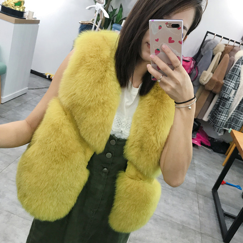 Sunny Luxury Faux Fur Winter Warm Multicolor Fox Fur Gloves Fleece Lining Thicken Hand Wrist Hand Warmer Large Size Fur Gloves Firm In Structure Apparel Accessories