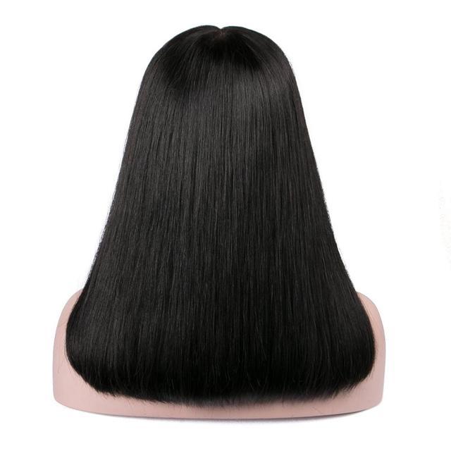 Short Bob Brazilian Lace Front Human Hair Wigs Pre-plucked Deep Part Lace Closure Straight Long Bob Wig