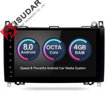 Isudar Car Multimedia Player GPS Android 8.0 Car Radio 2 Din For Mercedes/Benz/Sprinter/W169/B200/B-class DSP 4GB RAM OBD2
