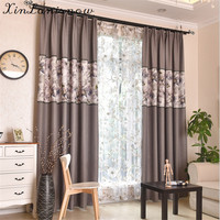 Light Coloured And Mosaic Printing Of Linen Curtains For Living Dining Room Bedroom