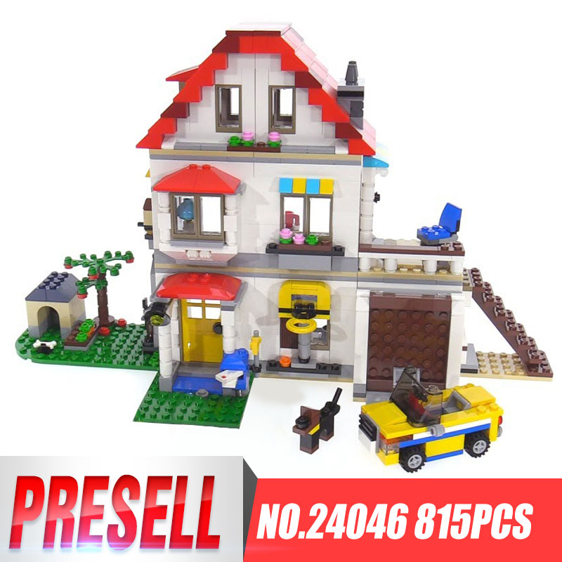 Lepin 24046 New Toys Creative Series LegoINGy 31069 Family Villa Set Model Building Blocks Bricks Educational Toys Kids Gifts